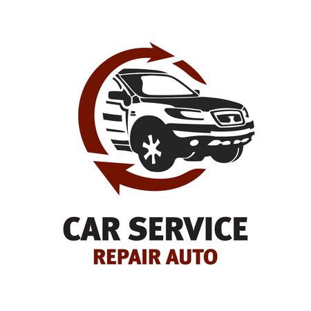 Illustration pour Car service logo template. Automotive repair theme concept. - image libre de droit