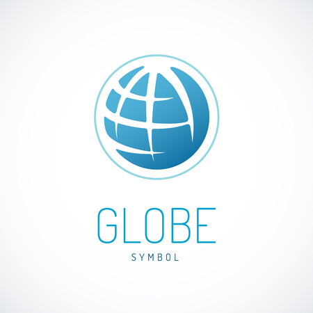 Illustration pour Earth logo template. Globe sign. - image libre de droit