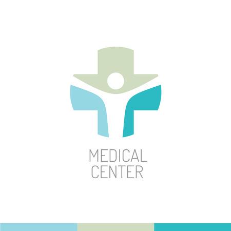 Illustration pour Medical center logo template - image libre de droit