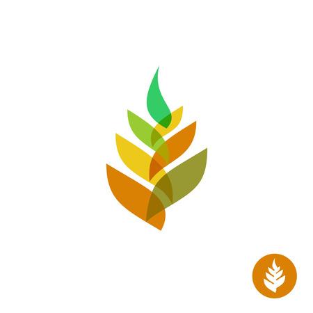 Illustration pour Wheat ear transparent style sign. - image libre de droit