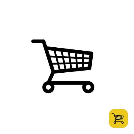 Ilustración de Shopping cart simple black sign - Imagen libre de derechos