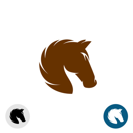 Illustration pour Horse head . Simple elegant one color silhouette. - image libre de droit