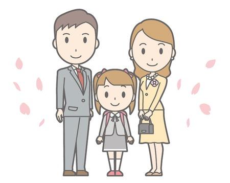 Illustration of entrance ceremony at elementary school vol.02