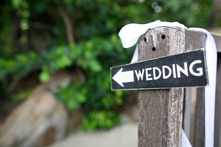 Photo pour wedding wooden sign - image libre de droit