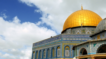 Photo for Dome of the Rock in Jerusalem over the Temple Mount. Golden Dome is the most known mosque and landmark in Jerusalem and sacred place for all muslims. - Royalty Free Image