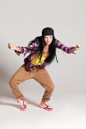 Girl enjoying the hip-hop dance