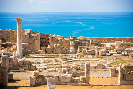 Photo for Ruins of ancient Kourion. Limassol District. Cyprus - Royalty Free Image