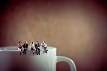 Photo pour Business colleagues on coffee break. - image libre de droit