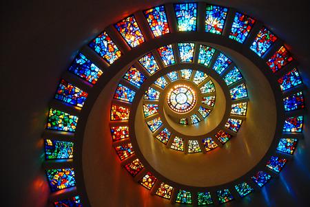 Foto de Spiral Glass window - Imagen libre de derechos