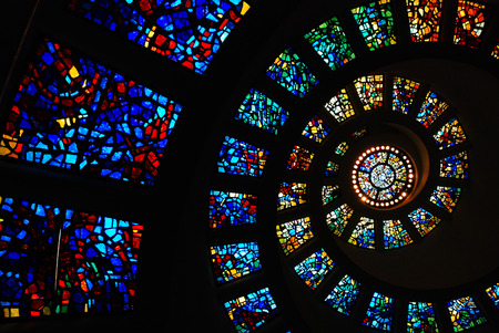 Foto de Circular Stained Glass of the Thanksgiving Chapel, Dallas - Imagen libre de derechos