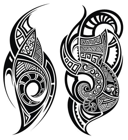 Illustration for Tattoo design - Royalty Free Image