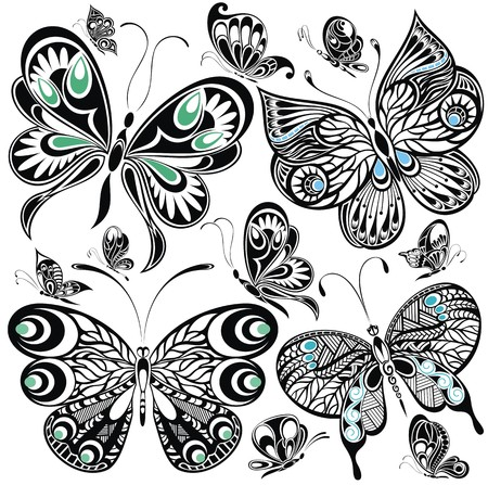 Illustration for Butterfly set - Royalty Free Image