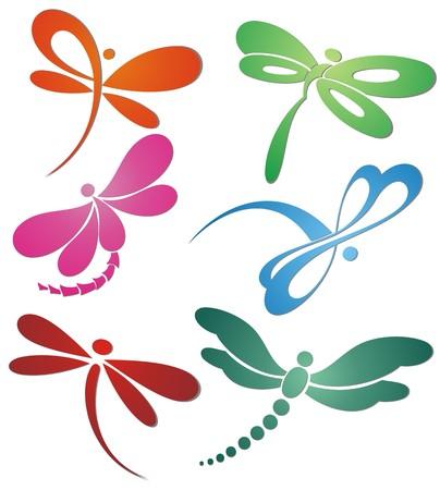 Illustration pour Butterfly(dragonfly ) logo design - image libre de droit