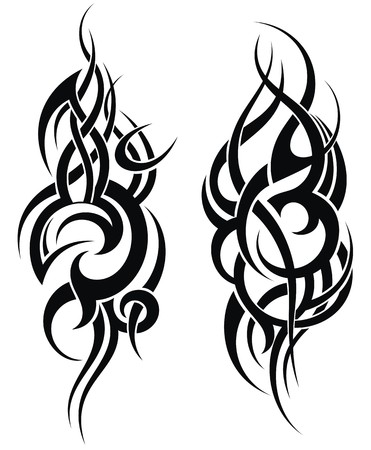 Illustration for Maori styled tattoo pattern for a shoulder - Royalty Free Image