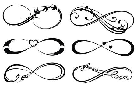 Illustration pour Infinity love, forever symbol - image libre de droit