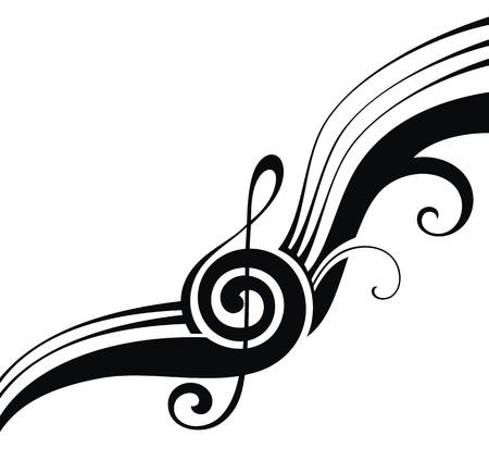 Illustration pour music notes - image libre de droit