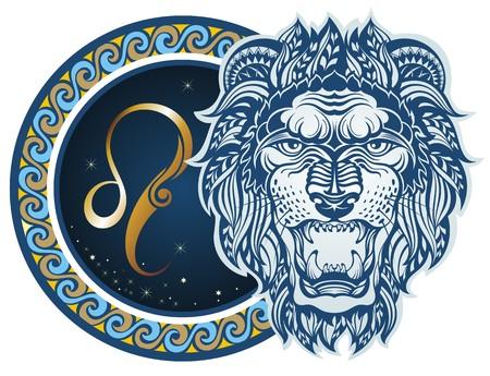 Illustration pour Zodiac signs - Leo - image libre de droit