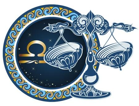 Illustration pour Zodiac signs - Libra - image libre de droit