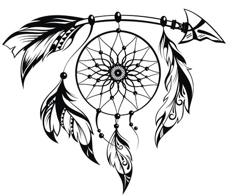 Illustration for Hand drawn illustration of dream catcher - Royalty Free Image