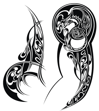Illustration for Tattoo with abstract style design. Tattoo arm - Royalty Free Image