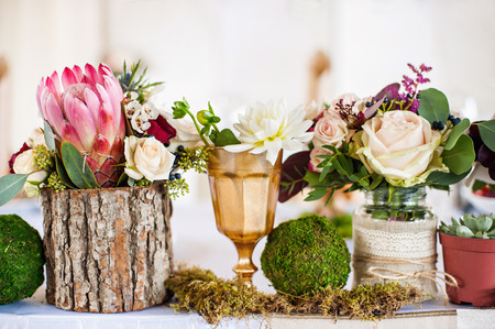 Photo for Wedding decorations with flowers - Royalty Free Image