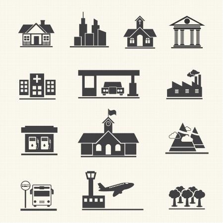 Foto für Icons set of places - Lizenzfreies Bild