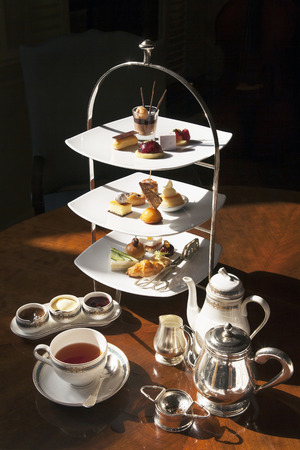 Photo for High tea set with dessert - Royalty Free Image
