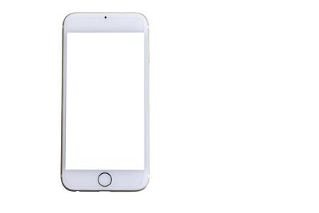 Photo for Smart phone generation isolated on white background. - Royalty Free Image