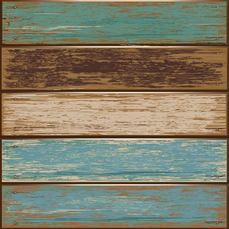 illustration of Old color wooden texture background