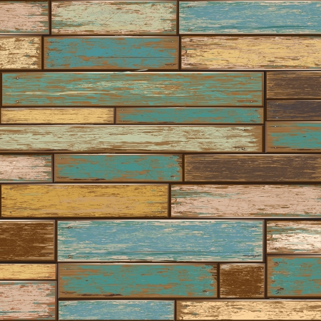 Old color wooden texture background  vector illustrator