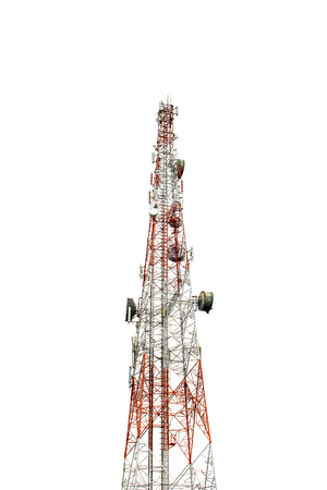Photo for Communication Tower on white background - Royalty Free Image