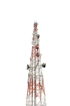 Foto de Communication Tower on white background - Imagen libre de derechos
