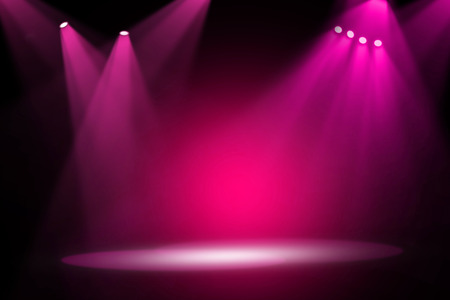 Photo for Pink stage light background - Royalty Free Image