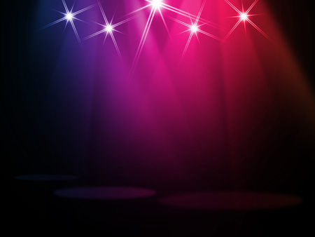 Photo for The concert on stage background with flood lights - Royalty Free Image