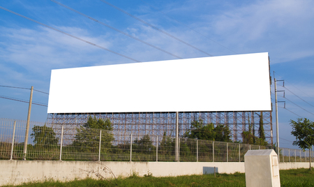 Photo pour Blank billboard with white space background for advertisement. - image libre de droit