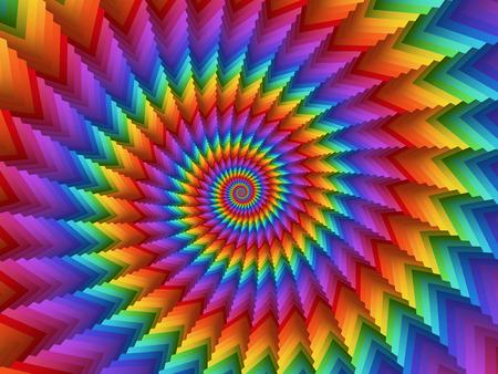 Foto de Psychedelic Rainbow Spiral Background - Imagen libre de derechos