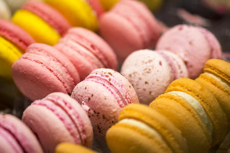 Photo for Colorfull macaroons with different flavors - Royalty Free Image
