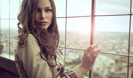 Photo pour Sexy woman with beautiful eyes  - image libre de droit
