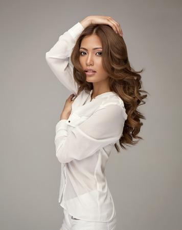 Beautiful asian woman posing