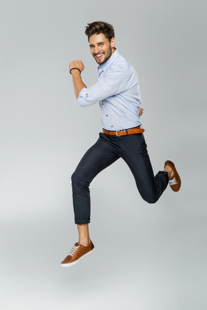 Photo for Handsome man jumping - Royalty Free Image