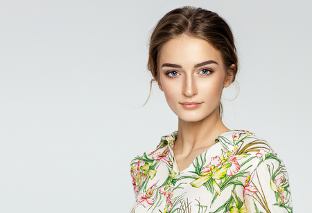 Portrait of a beautiful young female model