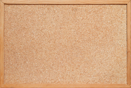 Photo for blank corkboard / bulletin board with a wooden frame - Royalty Free Image