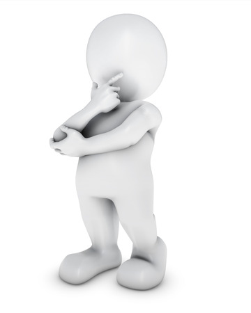 Photo pour 3D Render of Morph Man thinking - image libre de droit