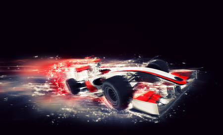 Photo for 3D render of a generic F1 car with special speed effect - Royalty Free Image