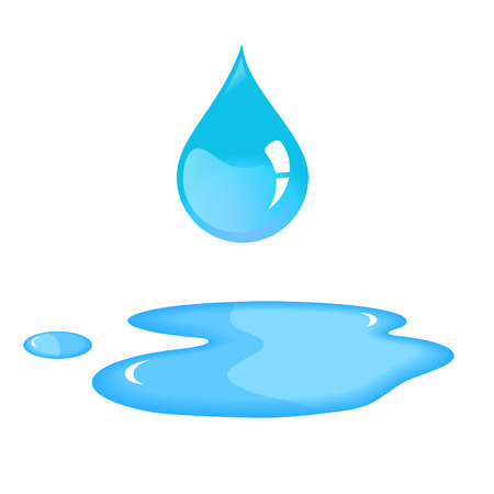 Illustration pour Blue water drop and spill. - image libre de droit