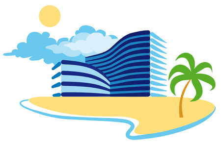 Illustration pour icon of resort hotel - image libre de droit