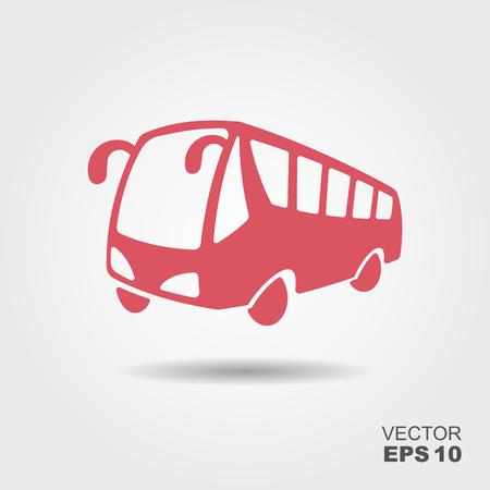 Ilustración de Bus vector icon. Public transport symbol. Flat illustration - Imagen libre de derechos