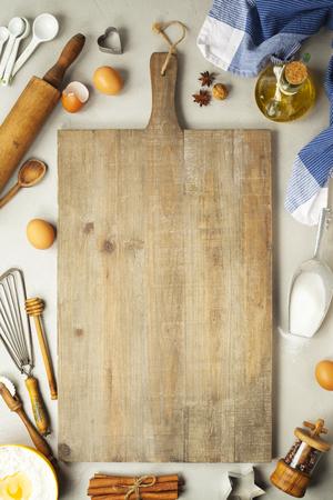 Photo pour Baking background. Fresh ingredients for baking. On rustic background - image libre de droit