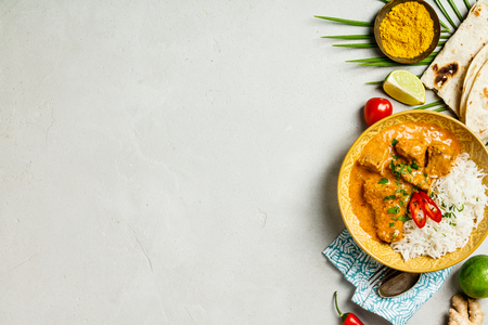 Photo pour Traditional curry, flat lay - image libre de droit