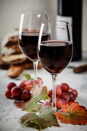 Photo pour Red wine composition - image libre de droit
